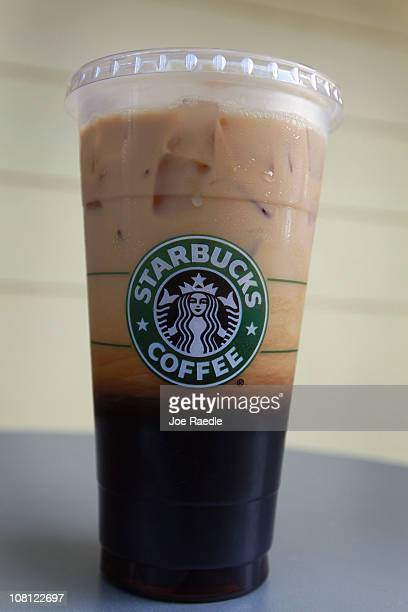 In this photo illustration the new Starbucks 31ounce Trenta size ice coffee is seen on January 18 2011 in Miami Florida Starbucks rolled out the...