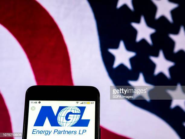 In this photo illustration the NGL Energy Partners Company logo seen displayed on a smartphone