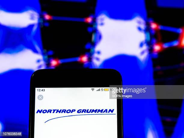 In this photo illustration the Northrop Grumman Aerospace and defense company logo seen displayed on a smartphone