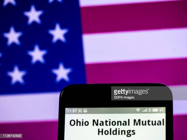 In this photo illustration the Ohio National Mutual Holdings Inc logo seen displayed on a smartphone