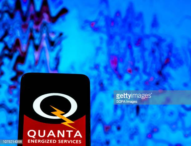 In this photo illustration the Quanta Services Construction engineering company logo seen displayed on a smartphone