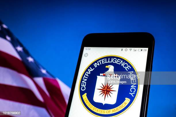 In this photo illustration, the Seal of United States Central Intelligence Agency seen displayed on a smartphone.