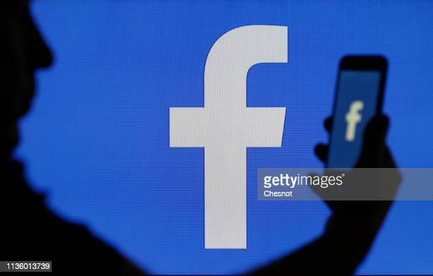 In this photo illustration the social media application logo Facebook is displayed on the screen of a computer on March 15 2019 in Paris France...