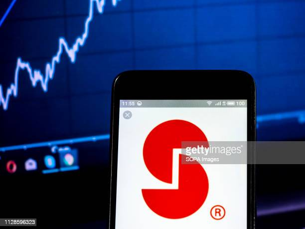 In this photo illustration the Stepan Company logo seen displayed on a smartphone