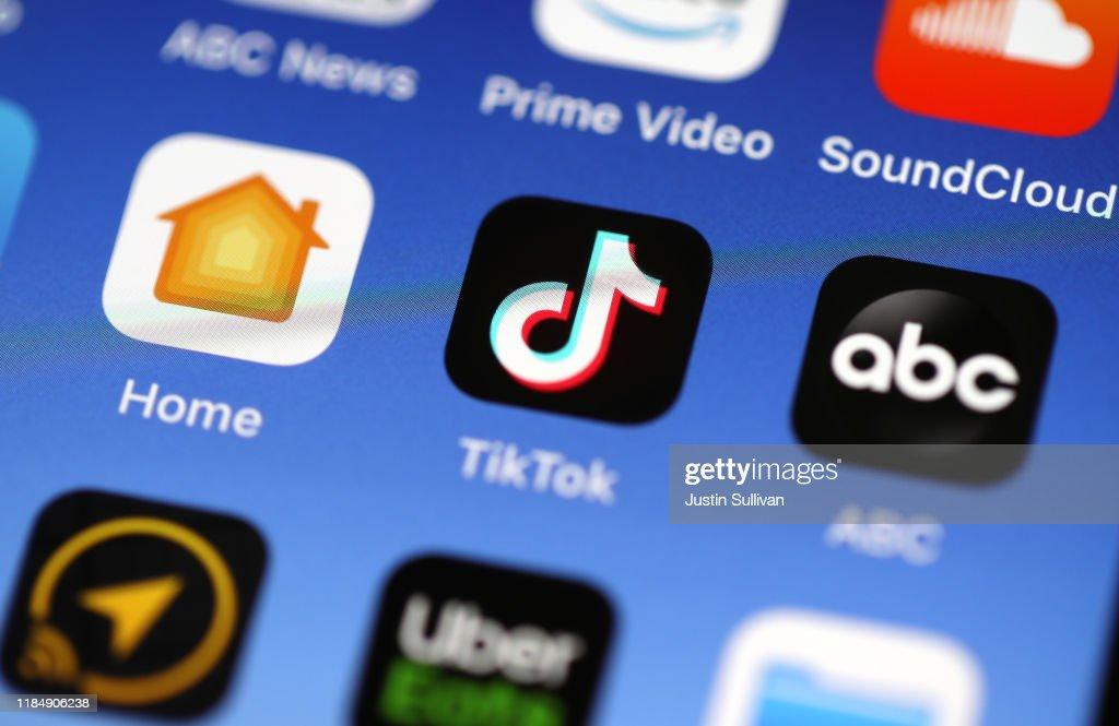 Popular Video App Tik Tok Under National Security Review : News Photo