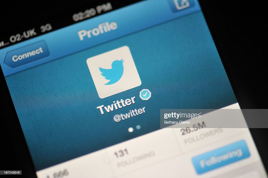 Social Media Site Twitter Debuts On The New York Stock Exchange : News Photo