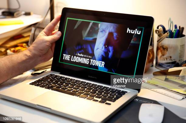 In this photo illustration the US television series 'The Looming Tower' is displayed on the screen of an Apple laptop on January 10 2019 in Paris...