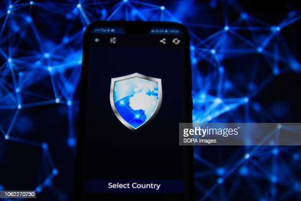 In this photo illustration, the VPN app is seen displayed on an Android mobile phone.