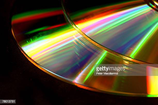 In this photo illustration two data CDs reflect the light on November 20 2007 in London England Earlier the Chancellor of the Exchequer Alistair...