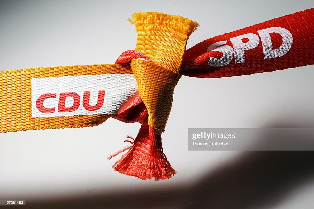 German Governing Coalition Photo Illustration : News Photo