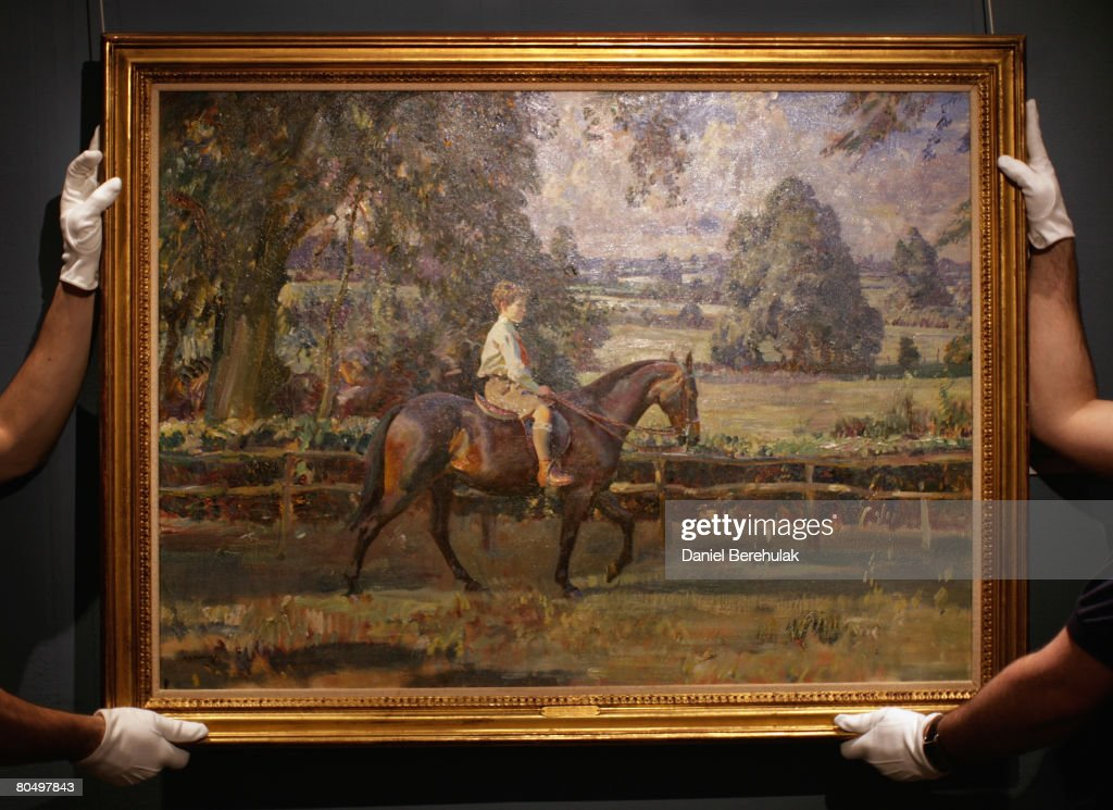 Auction Of Rarely Seen Sir Alfred J Munnings Portraits : News Photo