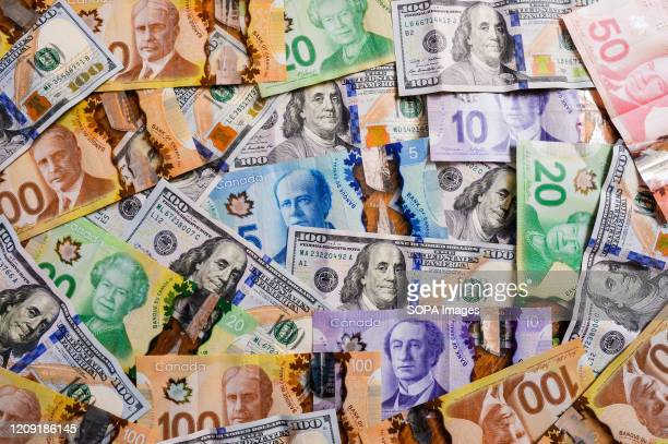 Canadian Money Stock Pictures Royalty