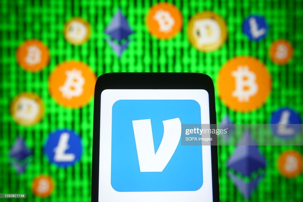 In this photo illustration, Venmo logo of a mobile payment... : News Photo