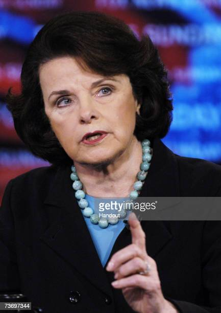 In this photo provided by Fox News Sunday Senator Dianne Feinstein appear on FOX News Sunday with Chris Wallace March 25 2007 at the FOX News Sunday...