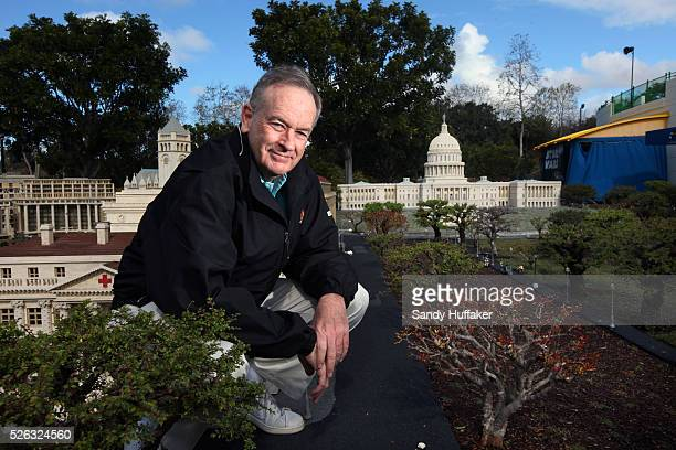 In this photo provided by Legoland, Fox News political commentator Bill O'Reilly stands in the National Mall at a lego replica Washington DC at...