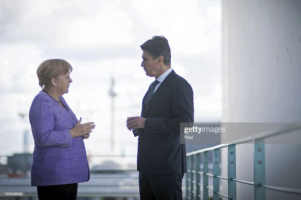 Chancellor Merkel Meets With Croatian Prime Minister Milanovic