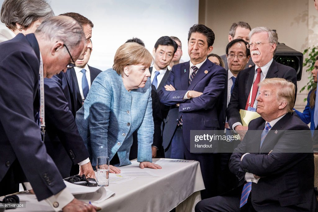 Heads Of State Attend G7 Meeting - Day Two : News Photo