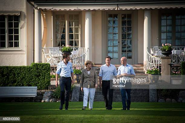 In this photo provided by the German Government Press Office Prime Minister of the Netherlands Mark Rutte German Chancellor Angela Merkel British...