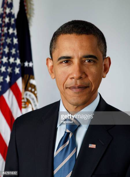 In this photo provided by the Obama Transition Office US Presidentelect Barack Obama poses for an official portrait on January 13 2009 in Washington...