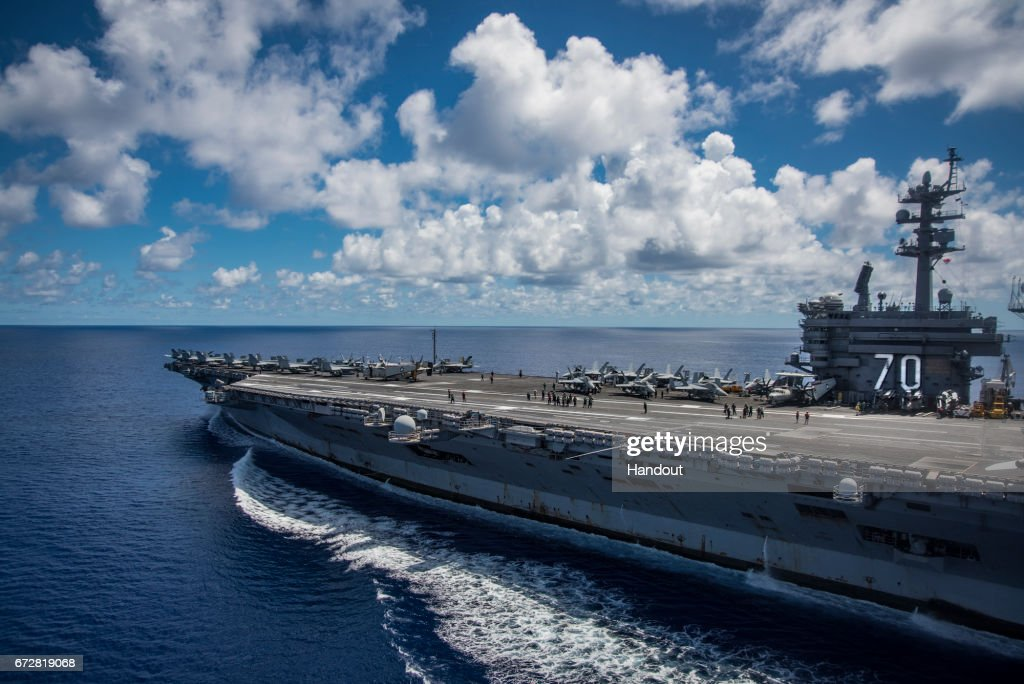 USS Carl Vinson Transits The Philippine Sea : News Photo