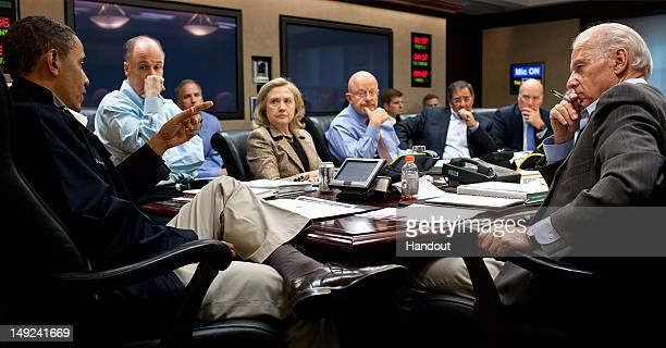In this photo provided by The White House President Barack ObamaNational Security Advisor Tom Donilon Secretary of State Hillary Clinton Director of...