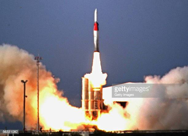 In this photo released by Israel Aircraft Industries an Arrow II antimissile missile is successfully launched December 2 2005 from an unnamed...