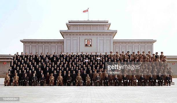 In this photo released by Korean Central News Agency via Korean News Service on September 30 North Korean leader Kim JongIl and the Workers' Party of...