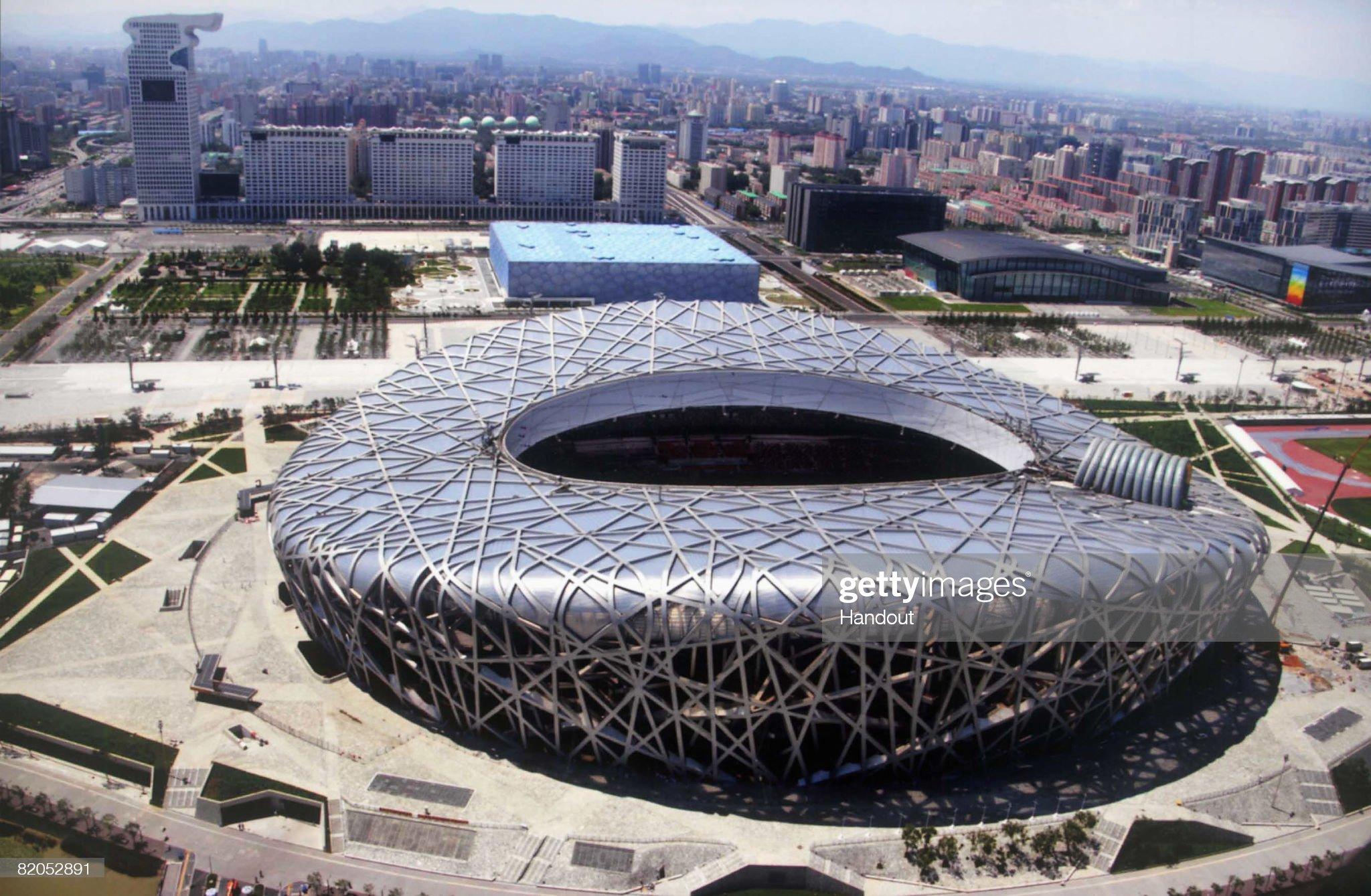 Aerial Views Of Beijing Olympic Venues : ニュース写真