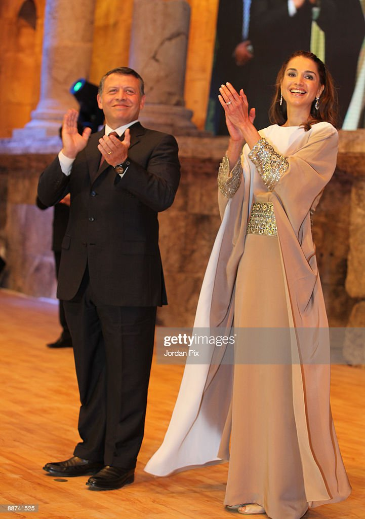 Jordanian Royal Couple Honor Himmeh Winners At National Award Celebration : News Photo