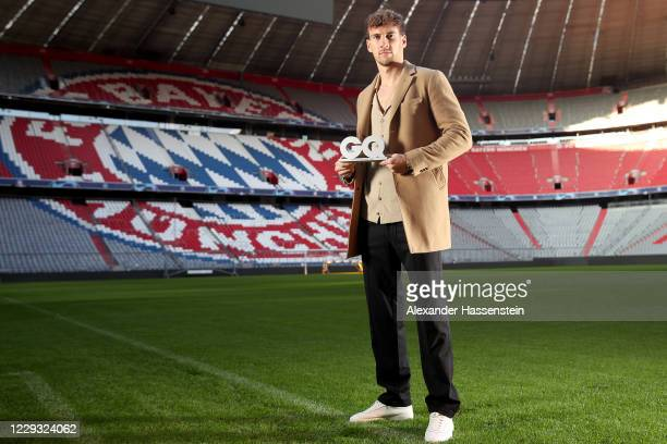 In this photo released on October 29, Footballer Leon Goretzka poses after receiving the GQ Sportsman of the Year Award 2020 at Allianz Arena on...