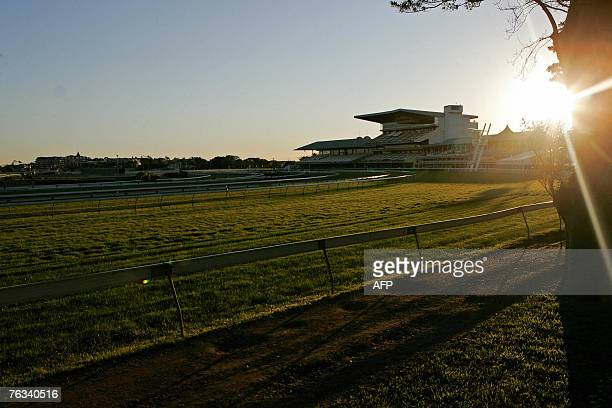 In this photo taken 27 August 2007 shows an empty racing track at Royal Randwick race course in Sydney Australian authorities said 27 August they now...