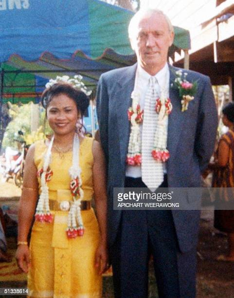 In this photo taken in 1998 British hostage Kenneth Bigley poses with his Thai wife Sombat during the wedding ceremony in Thailand Sombat Bigley the...