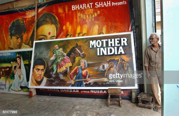 In this photo taken in early March 2005 the last business to make hand painted Bollywood film posters survives only by selling the work abroad in...