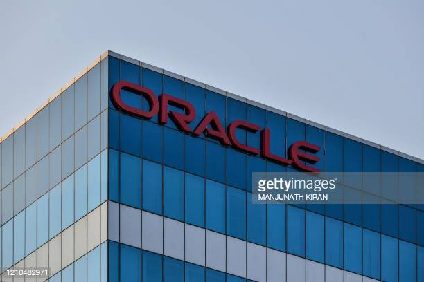 In this photo taken on April 16 a general view shows the Indian office of US multinational computer technology company Oracle in Bangalore. -...