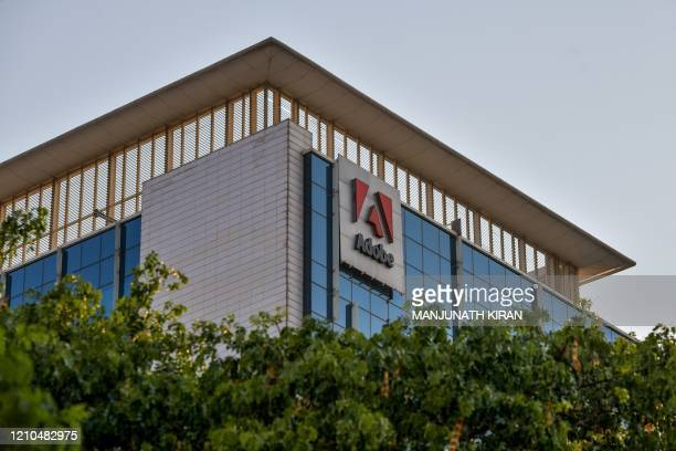 In this photo taken on April 16 a general view shows the Indian office of US multinational computer software company Adobe in Bangalore. -...