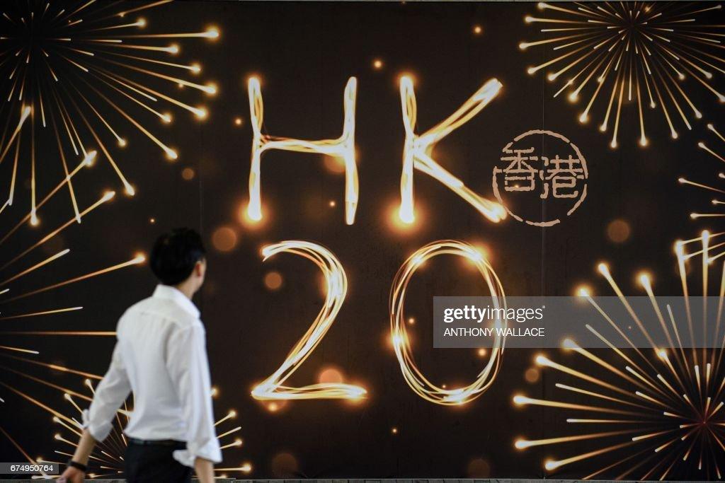 TOPSHOT-HONG KONG-CHINA-BRITAIN-POLITICS-HANDOVER-ANNIVERSARY : News Photo