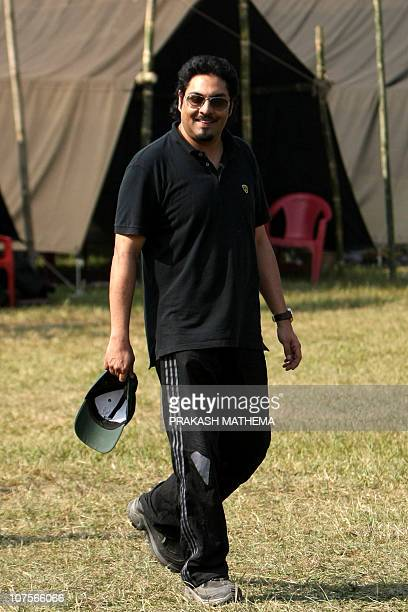 In this photo taken on December 2 Nepalese former crown prince Paras Shah walks while attending an elephant polo match at Meghauly in Chitwan...