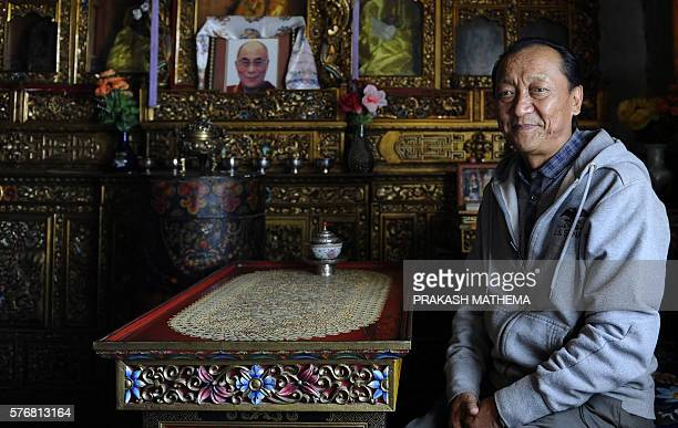 In this photo taken on June 18 former crown prince from Mustang Jigme Singi Palbar Bista poses during an interview with AFP in Lo Manthang in Upper...