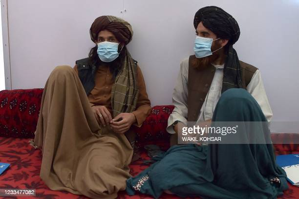 In this photo taken on June 3 Taliban fighters attend a first-aid training class organised by the International Committee of the Red Cross , at a...