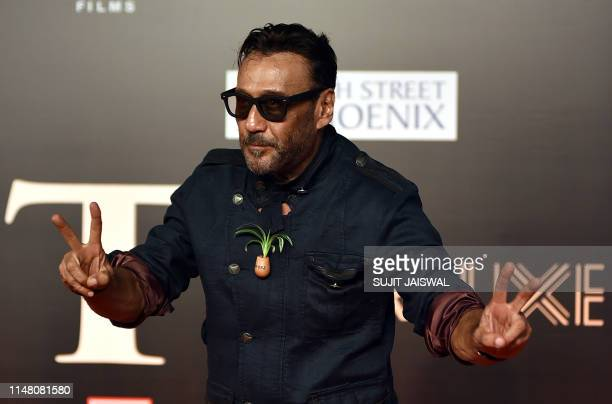 In this photo taken on June 4 Indian Bollywood actor Jackie Shroff attends the premiere of the Hindi film 'Bharat' in Mumbai