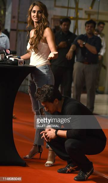 In this photo taken on June 4 Indian Bollywood actors Disha Patani and Tiger Shroff attend the premiere of Hindi film 'Bharat' in Mumbai