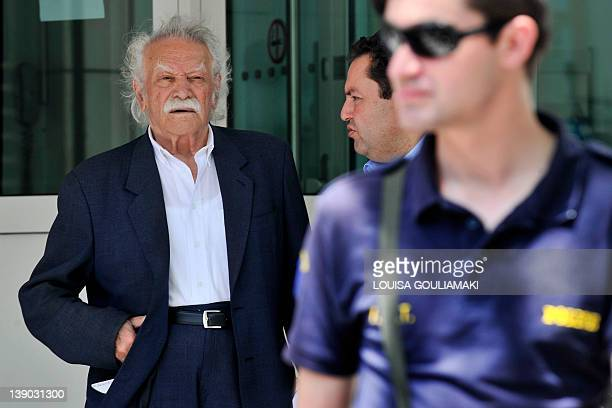 In this photo taken on June 6 activist and writer Manolis Glezos stands outside the German embassy in Athens Glezos an emblematic figure of Greece's...