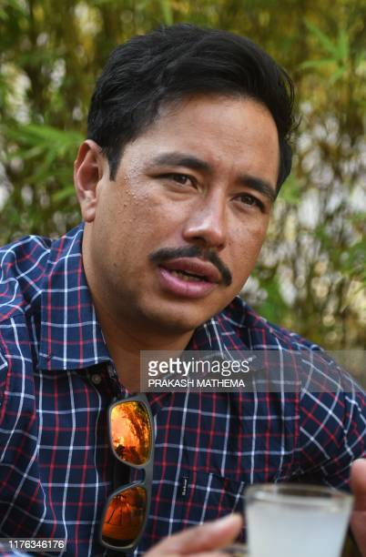 In this photo taken on October 16 Nepali mountaineer Nirmal Purja takes part in an interview with AFP in Kathmandu For pioneering Nepali mountaineer...