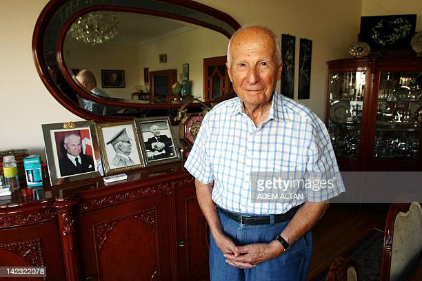 In this photo taken on Septenber 4 Turkey's former Army Commander General Kenan Evren, one of the leaders of the 1980 Turkish coup, poses for a...