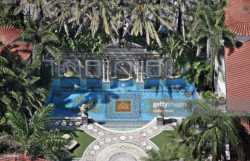 In this photograph, an aerial view of the former Gianni Versace mansion, now known as Casa Casuarina, can be seen. This is 10th anniversary of the death of Gianni Versace.