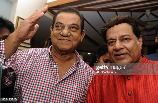 In this photograph taken July 29 2017 Indian Bollywood film producer Yusuf Lakdawala pose for a picture during the 64th birthday celebration of...