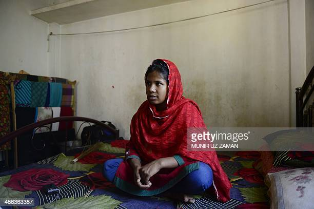 In this photograph taken on April 23 Bangladeshi garment worker Reshma Akter, who rescued after 17 days from the rubble of the collapsed Rana Plaza...