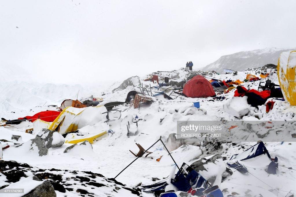 NEPAL-DISASTER-EARTHQUAKE : News Photo
