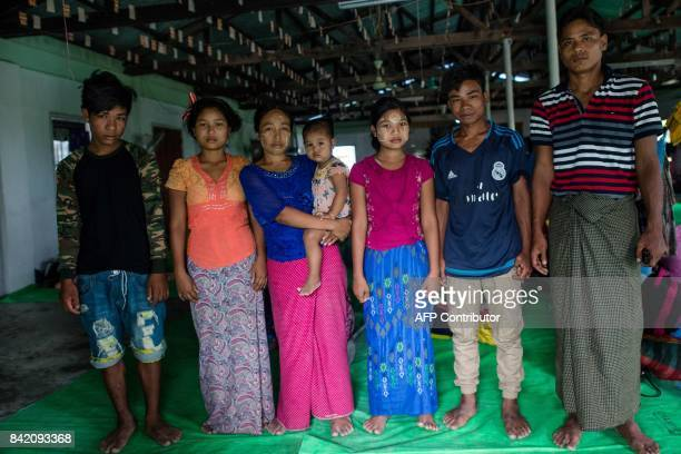 In this photograph taken on August 31 Aung Win an ethnic Rakhine farmer who used to live in the northernmost area of Rakhine where the border of...