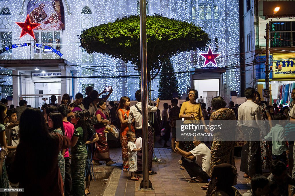 MYANMAR-FESTIVAL-CHRISTMAS : Nyhetsfoto